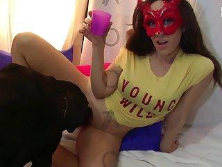 Asian  Amateur Dog porn Loves Her Toy